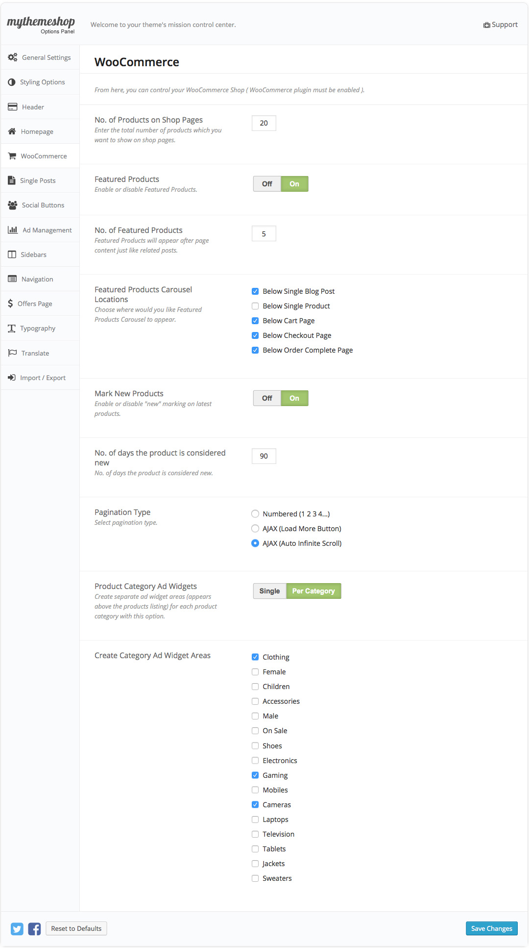 WooCart WooCommerce Settings
